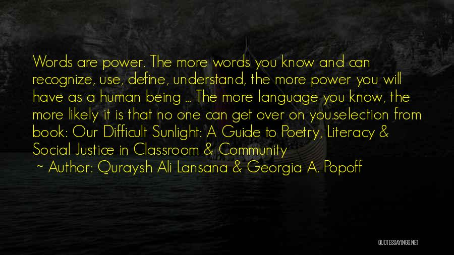 Being A Community Quotes By Quraysh Ali Lansana & Georgia A. Popoff