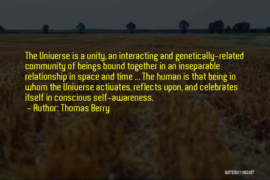 Being A Community Quotes By Thomas Berry