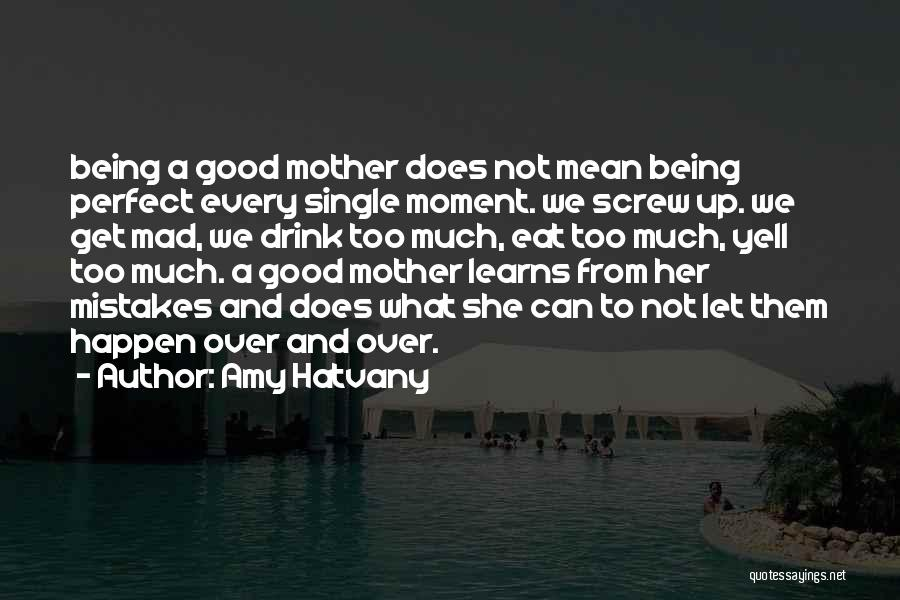 Being A Good Mother Quotes By Amy Hatvany