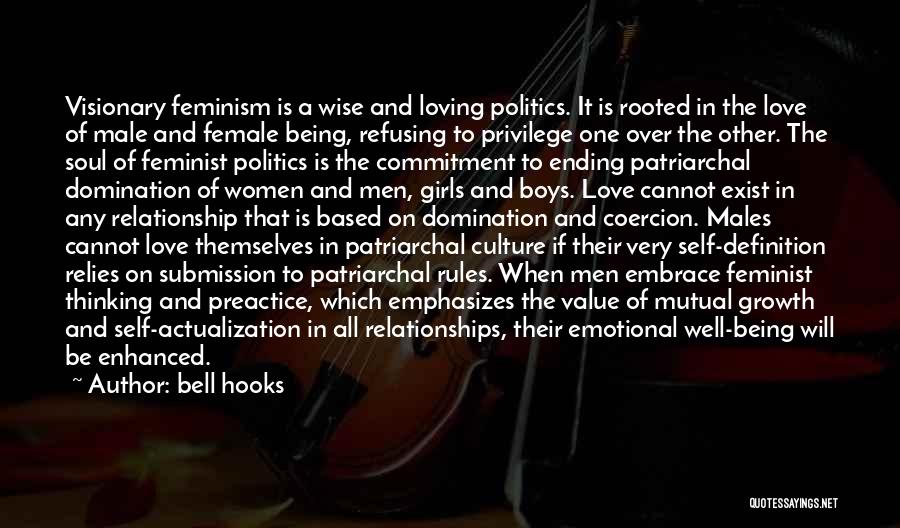 Being A Relationship Quotes By Bell Hooks