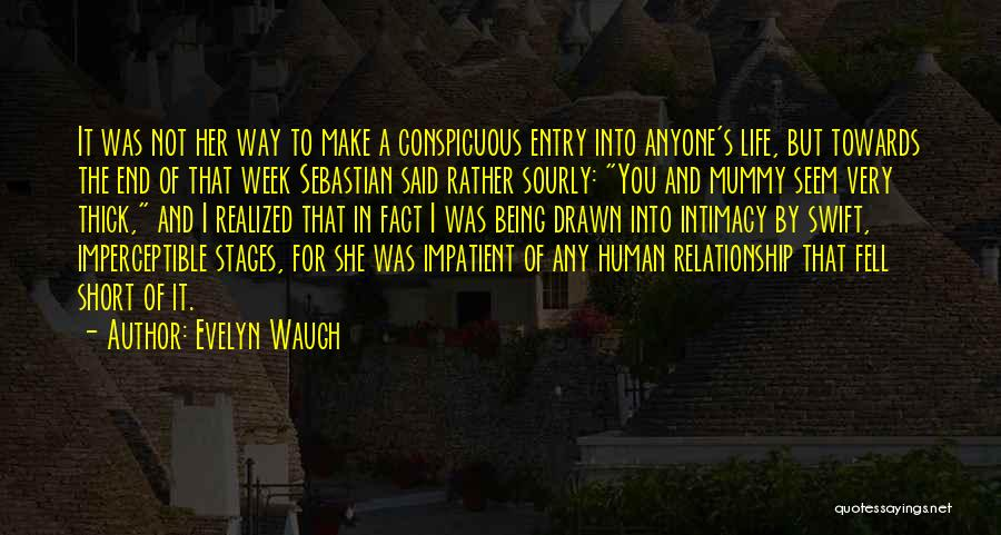 Being A Relationship Quotes By Evelyn Waugh