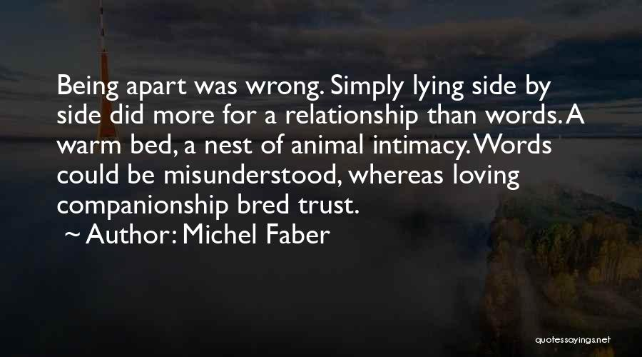 Being A Relationship Quotes By Michel Faber