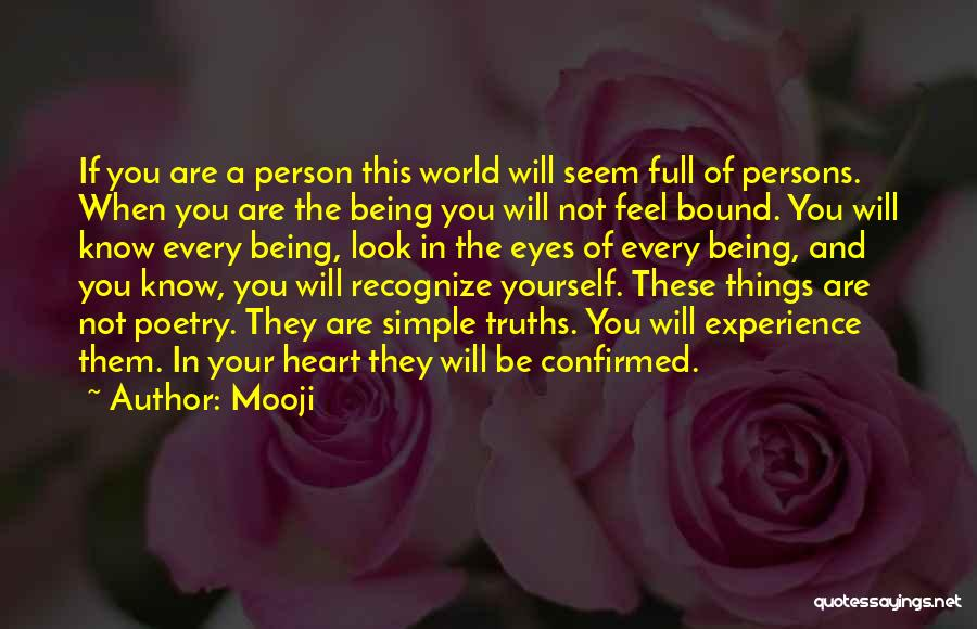 Being A Simple Person Quotes By Mooji