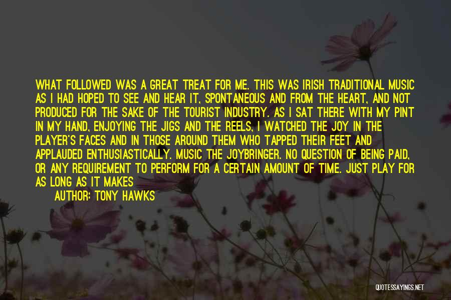 Being A Tourist Quotes By Tony Hawks