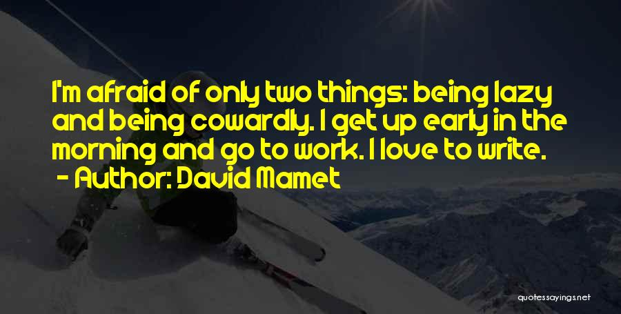 Being Afraid Quotes By David Mamet
