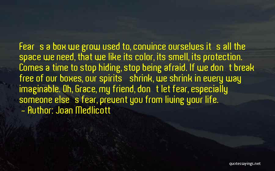 Being Afraid Quotes By Joan Medlicott