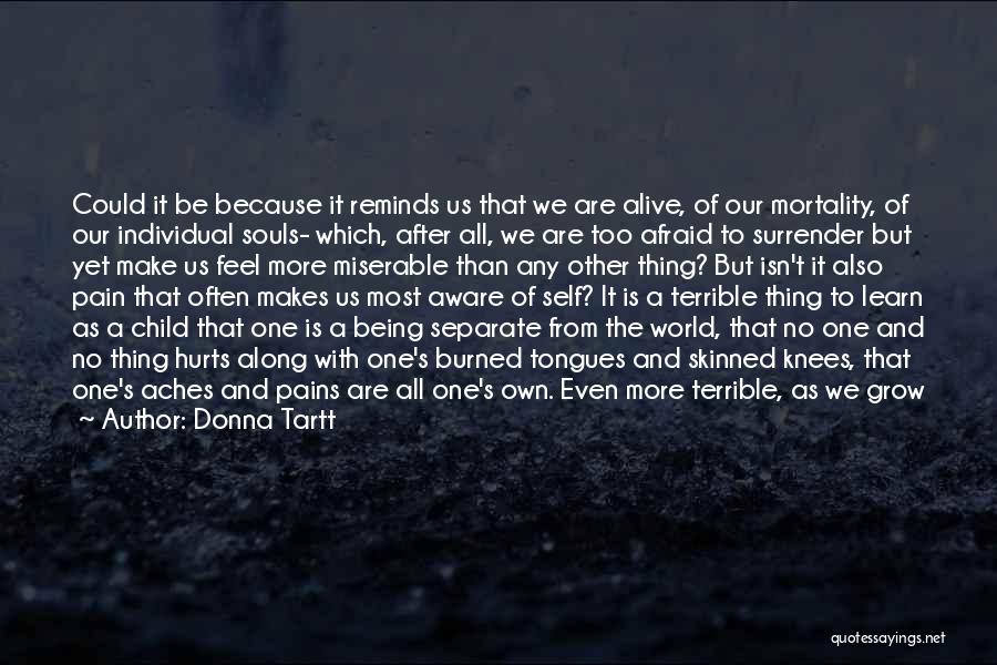 Being Afraid To Lose Him Quotes By Donna Tartt