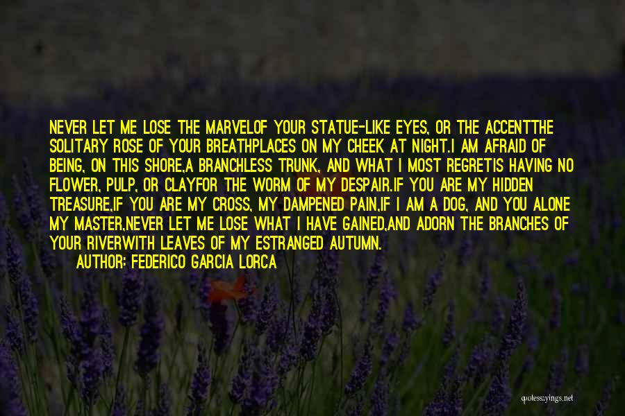 Being Afraid To Lose The One You Love Quotes By Federico Garcia Lorca