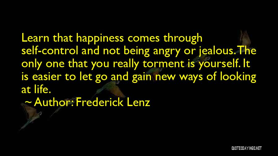 Being Angry With Yourself Quotes By Frederick Lenz