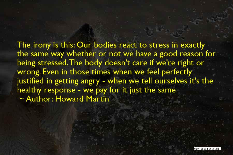 Being Angry With Yourself Quotes By Howard Martin
