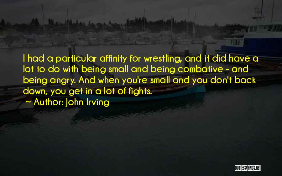Being Angry With Yourself Quotes By John Irving