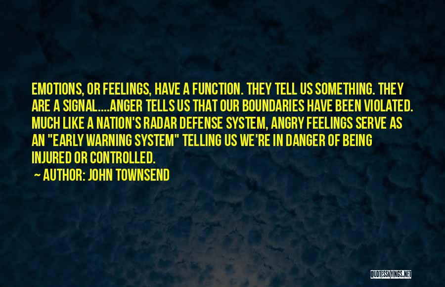 Being Angry With Yourself Quotes By John Townsend