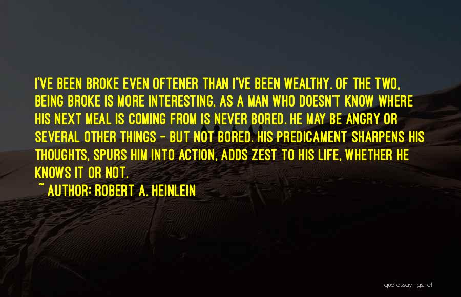 Being Angry With Yourself Quotes By Robert A. Heinlein