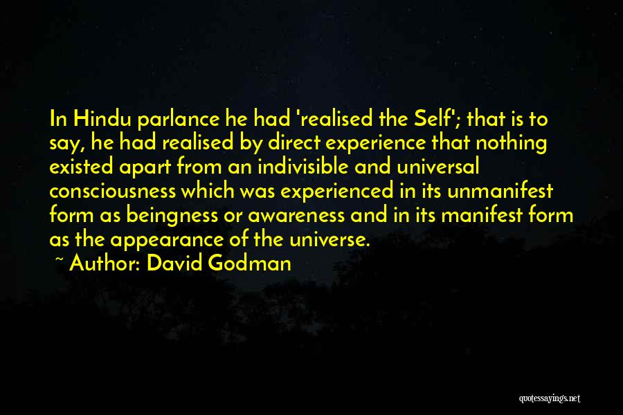 Being Apart From Each Other Quotes By David Godman