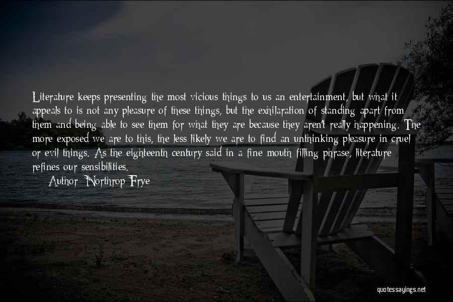 Being Apart From Each Other Quotes By Northrop Frye