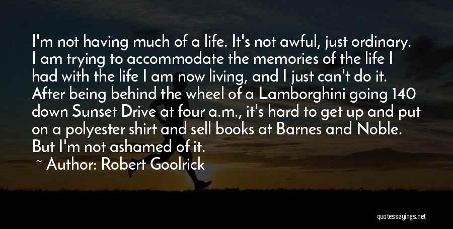 Being Ashamed Of Your Life Quotes By Robert Goolrick