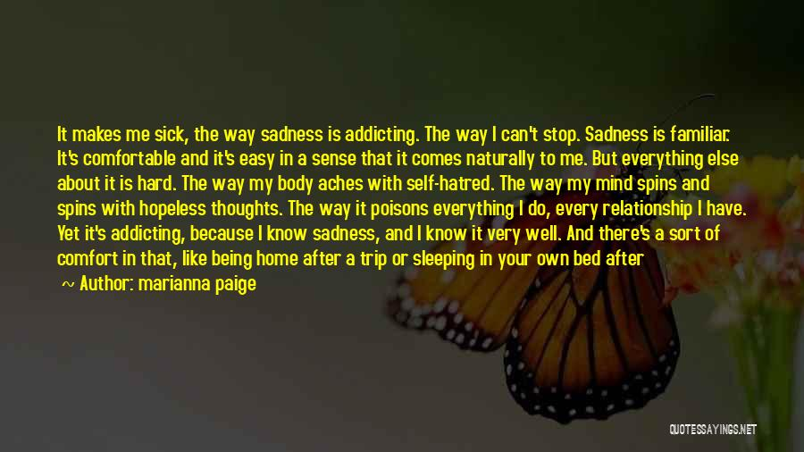 Being Away From Someone You Like Quotes By Marianna Paige