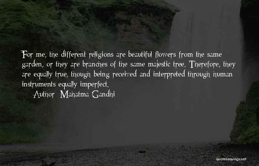 Being Beautiful And Different Quotes By Mahatma Gandhi