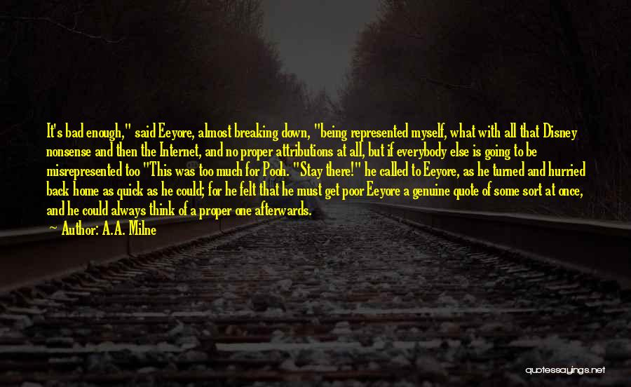 Being Called Quotes By A.A. Milne