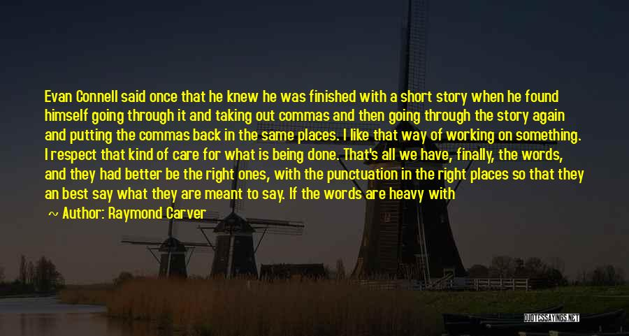 Being Called Quotes By Raymond Carver