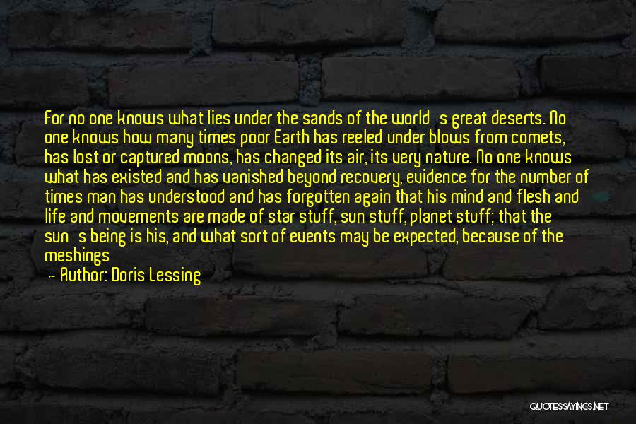 Being Changed By Life Events Quotes By Doris Lessing