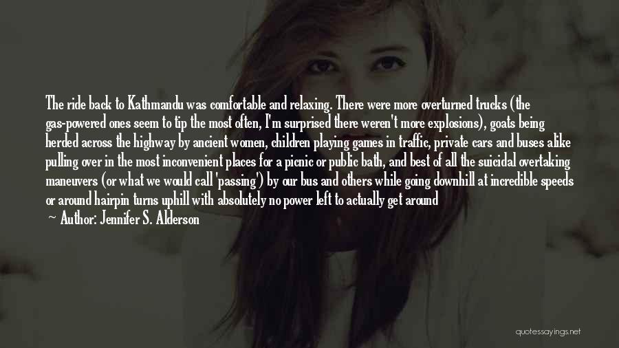 Being Comfortable Alone Quotes By Jennifer S. Alderson