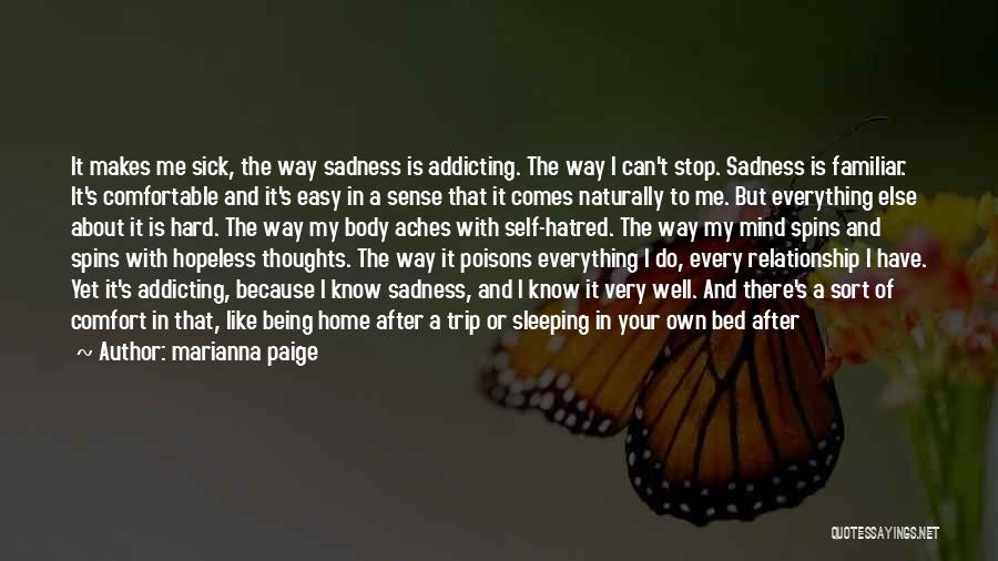 Being Comfortable In Your Own Body Quotes By Marianna Paige