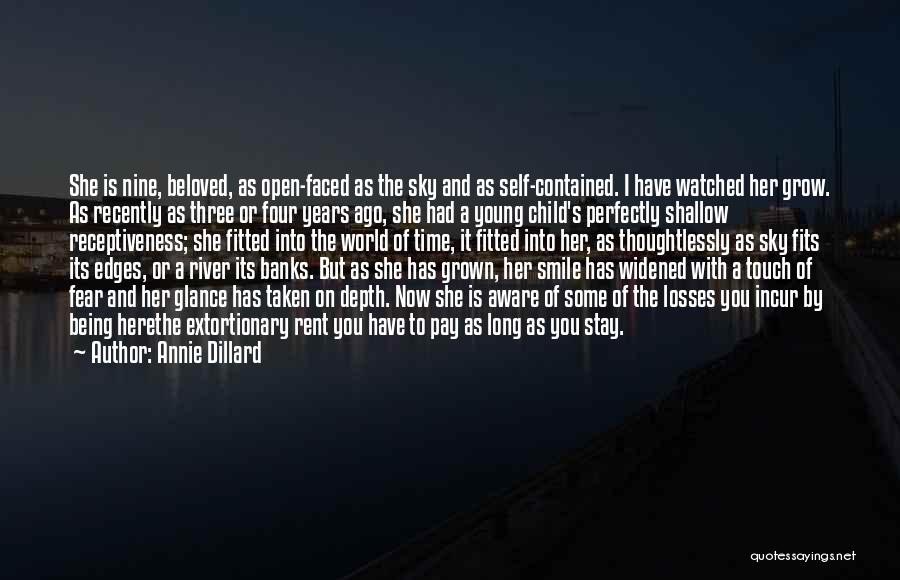Being Contained Quotes By Annie Dillard
