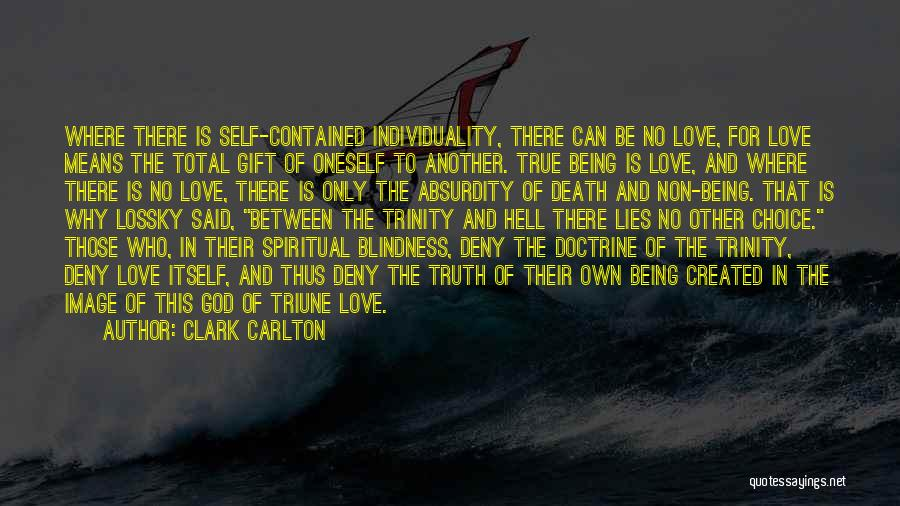 Being Contained Quotes By Clark Carlton