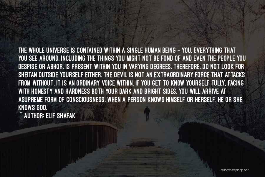 Being Contained Quotes By Elif Shafak