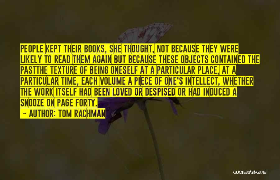 Being Contained Quotes By Tom Rachman