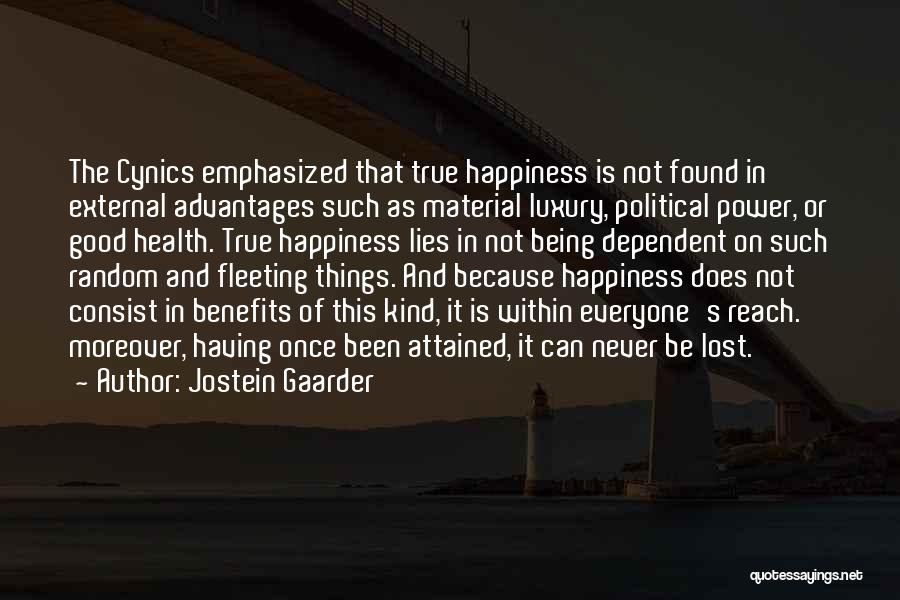 Being Dependent On Someone Quotes By Jostein Gaarder