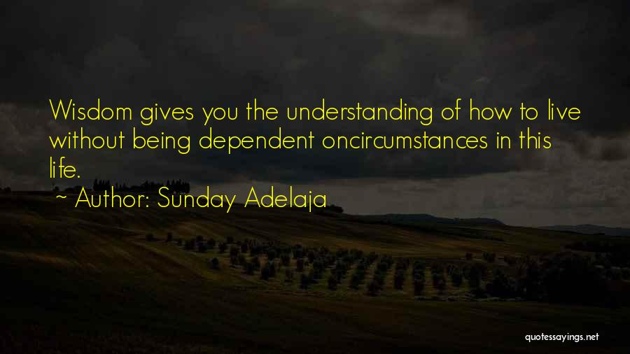 Being Dependent On Someone Quotes By Sunday Adelaja