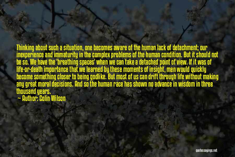 Being Detached Quotes By Colin Wilson