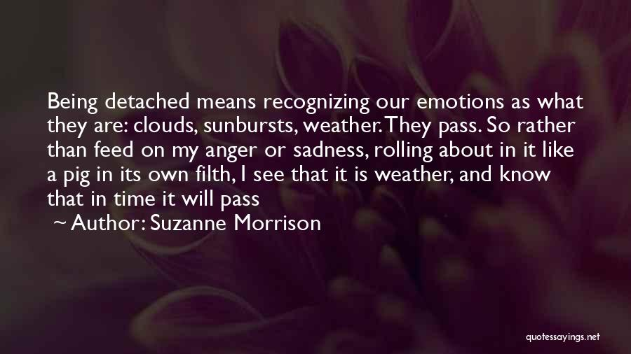 Being Detached Quotes By Suzanne Morrison