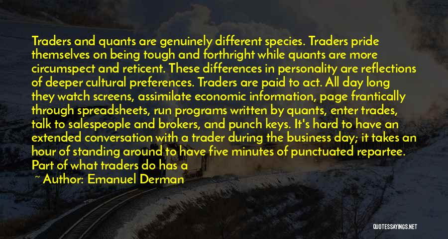 Being Different And Standing Out Quotes By Emanuel Derman