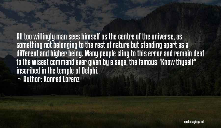 Being Different And Standing Out Quotes By Konrad Lorenz