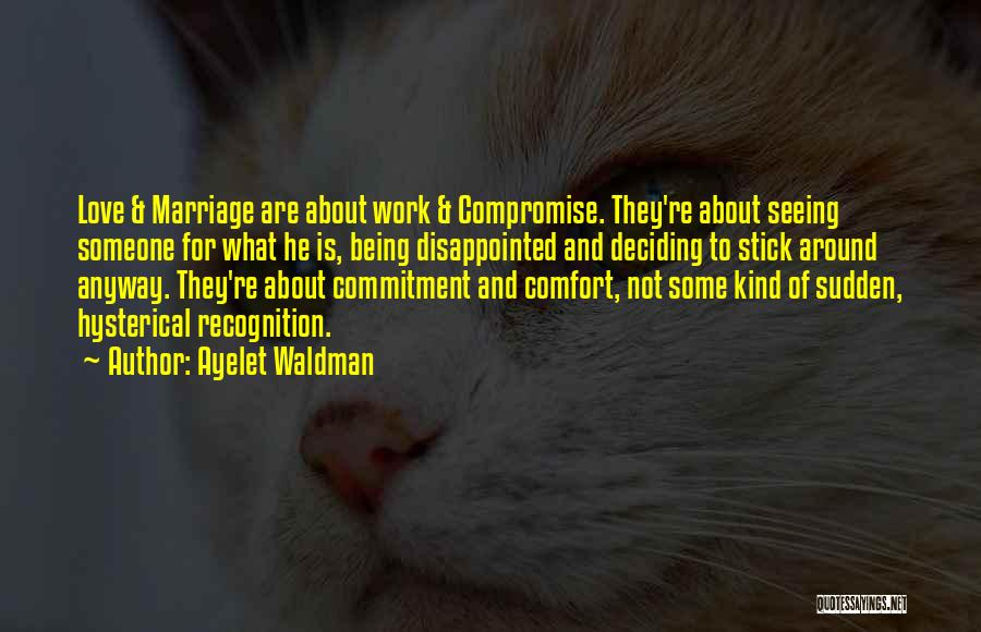 Being Disappointed By Someone You Love Quotes By Ayelet Waldman