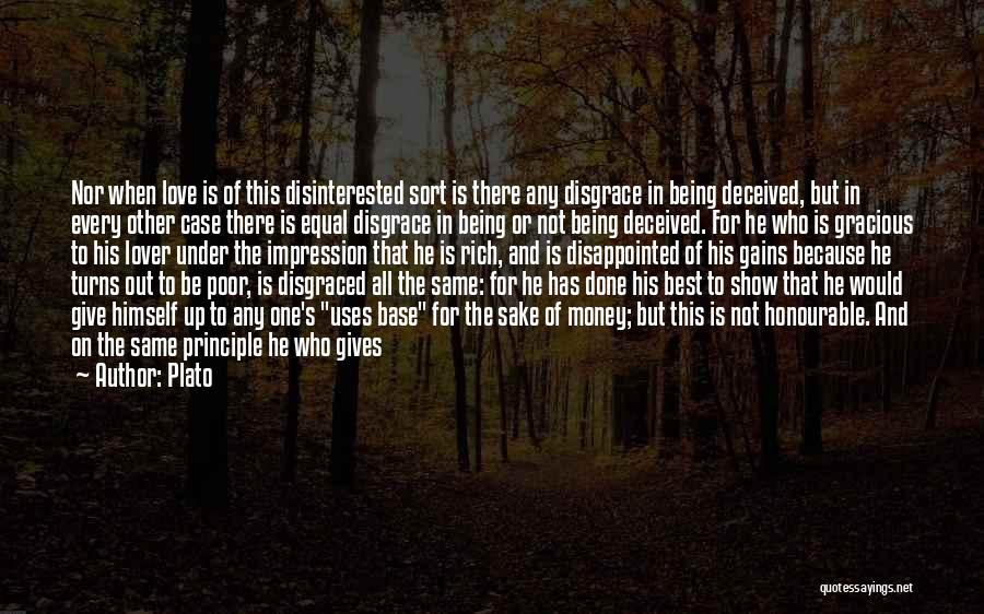 Being Disappointed By Someone You Love Quotes By Plato