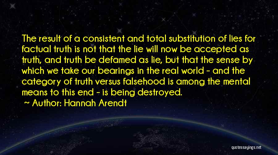 Being Factual Quotes By Hannah Arendt