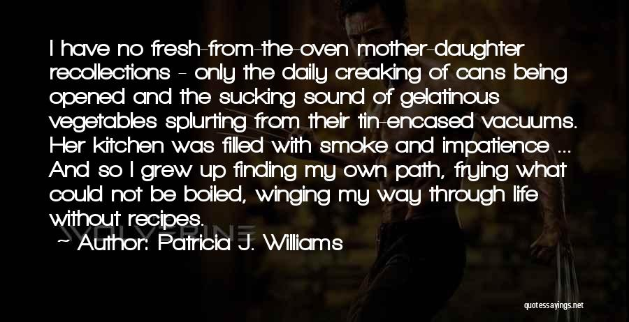Being Filled Up Quotes By Patricia J. Williams