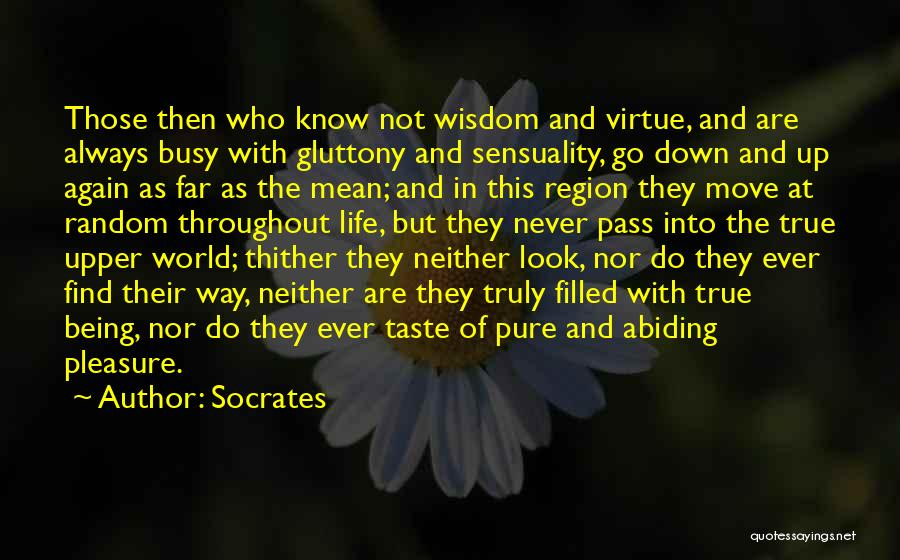 Being Filled Up Quotes By Socrates
