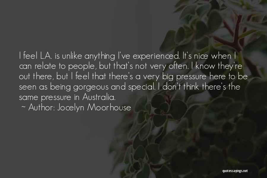 Being Gorgeous Quotes By Jocelyn Moorhouse