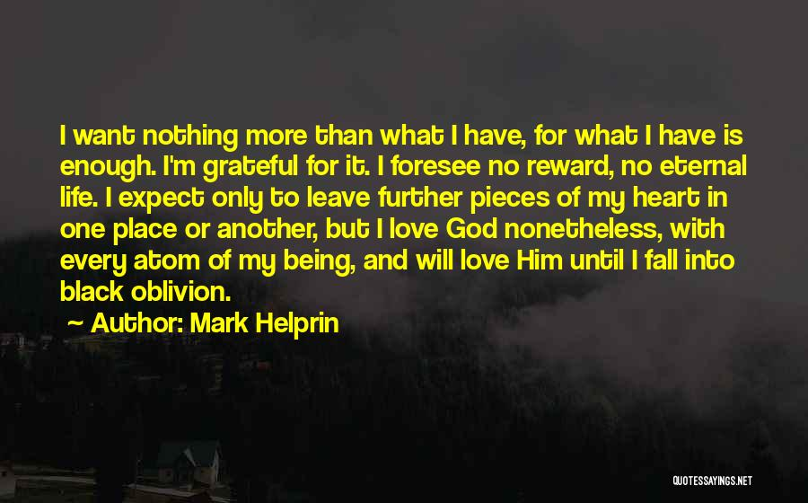 Being Grateful For The Life You Have Quotes By Mark Helprin