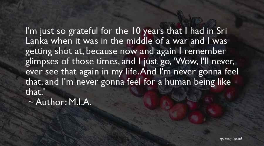 Being Grateful With What You Have Quotes By M.I.A.