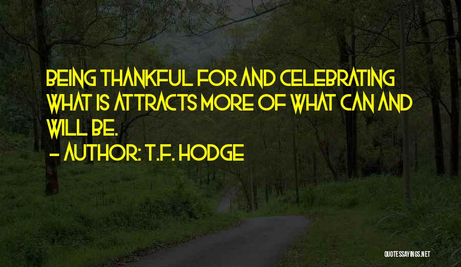 Being Grateful With What You Have Quotes By T.F. Hodge