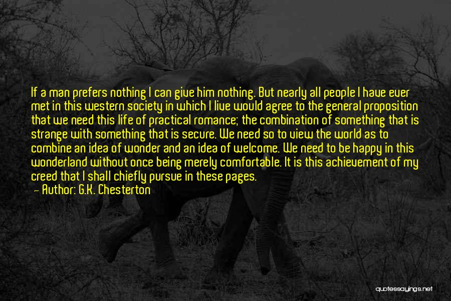 Being Happy With The Life You Have Quotes By G.K. Chesterton