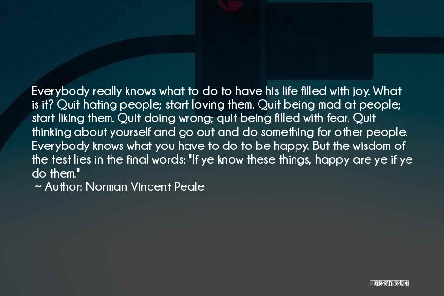 Being Happy With The Life You Have Quotes By Norman Vincent Peale