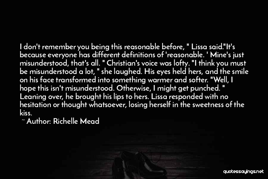 Being Held Quotes By Richelle Mead