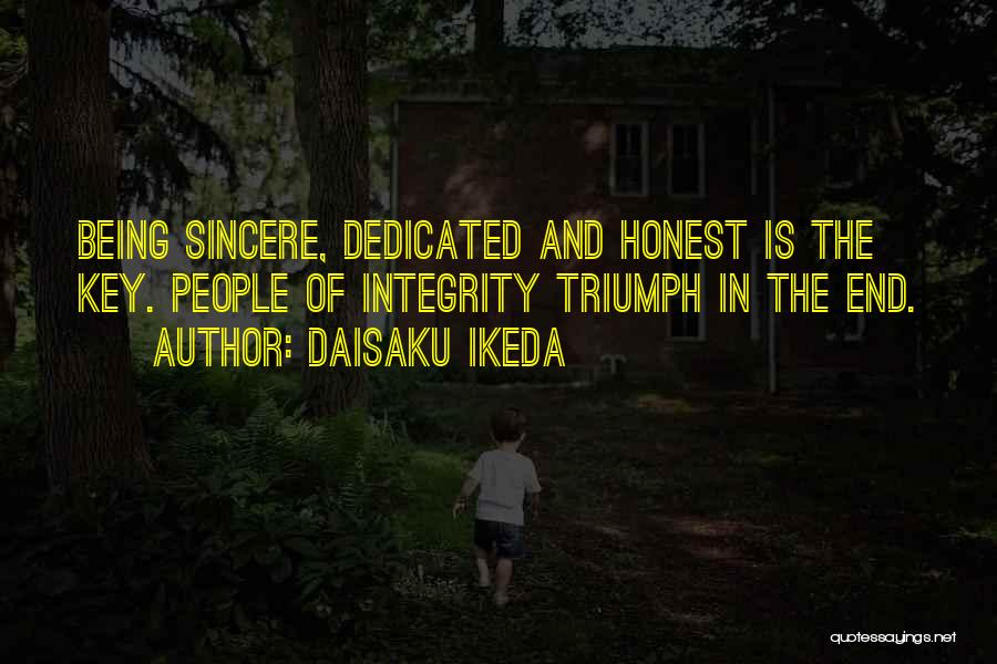 Being Honest Quotes By Daisaku Ikeda